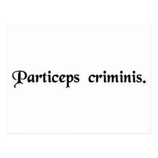 Socio - adentro - crimen. tarjetas postales