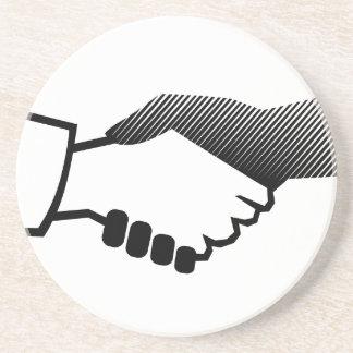 socio blanco negro del acuerdo de la historia de C Posavasos Manualidades