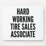 Socio de ventas de trabajo duro del neumático alfombrilla de ratón
