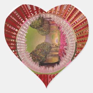 Socio del amor en vida pegatina de corazon