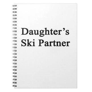 Socio del esquí de la hija libros de apuntes con espiral