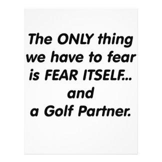 Socio del golf del miedo tarjeta publicitaria