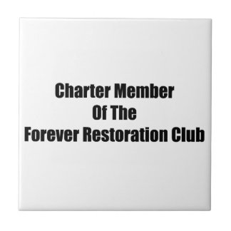 Socio fundador del club de la restauración del azulejos ceramicos