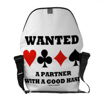 Socio querido con una buena mano (cuatro juegos de bolsa messenger
