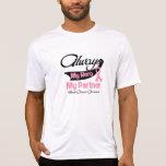 Socio - siempre mi héroe - cáncer de pecho camiseta