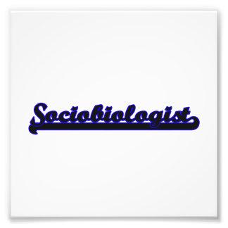 Sociobiologist Classic Job Design Photo Print