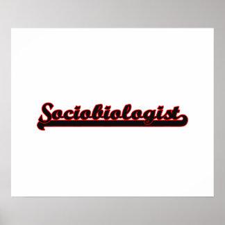 Sociobiologist Classic Job Design Poster