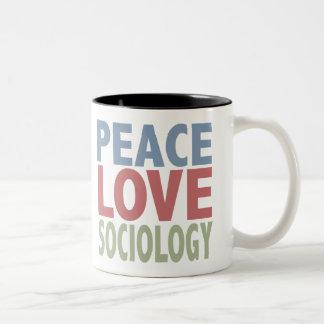 Sociología del amor de la paz tazas