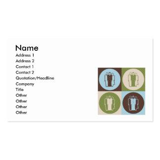 Sociología del arte pop plantillas de tarjetas personales