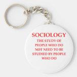 sociología llavero redondo tipo pin
