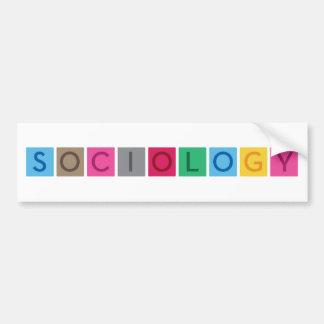 Sociología Pegatina Para Auto
