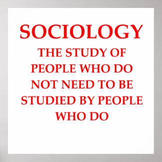 sociología póster