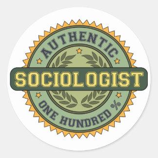 Sociólogo auténtico pegatina redonda