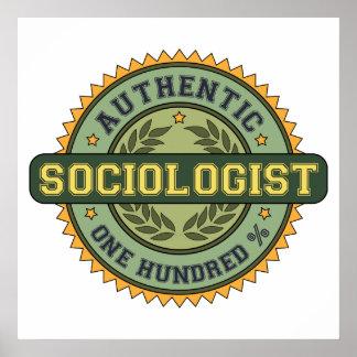 Sociólogo auténtico póster
