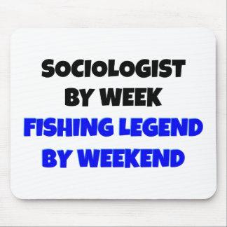 Sociólogo de la leyenda de la pesca mousepad
