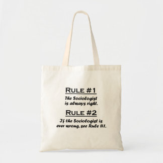 Sociólogo de la regla bolsas