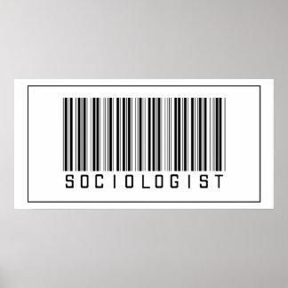 Sociólogo del código de barras póster