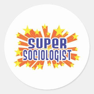 Sociólogo estupendo pegatina redonda