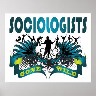 Sociólogos idos salvajes póster