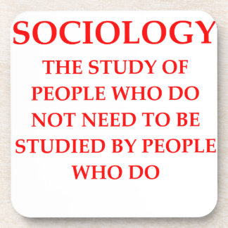 sociology drink coasters