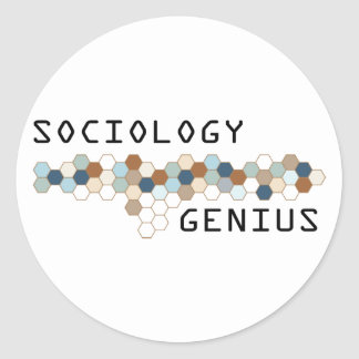 Sociology Genius Round Stickers