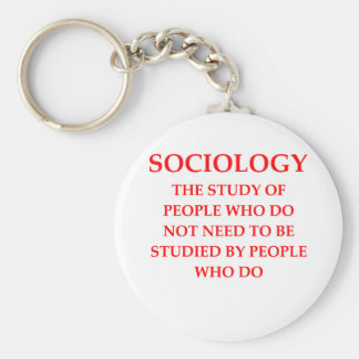 sociology keychain