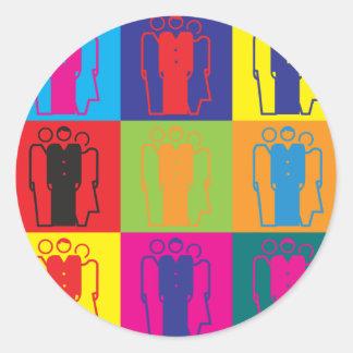 Sociology Pop Art Round Stickers