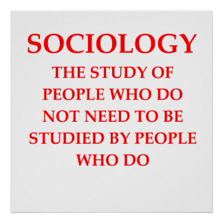 sociology poster