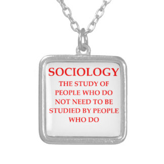 sociology silver plated necklace
