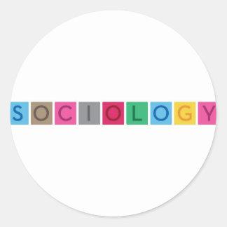 Sociology Round Sticker