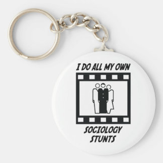Sociology Stunts Keychain