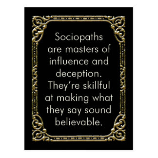 Sociopathic Influence postcard, mini art Postcard