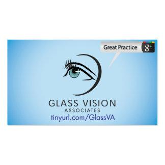 Socios de cristal de Vision Tarjetas De Visita