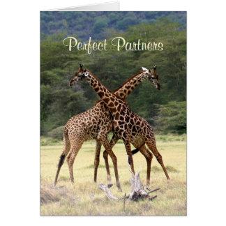 Socios perfectos - tarjeta del aniversario
