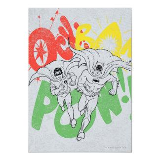 SOCK BAM POW Batman and Robin Card
