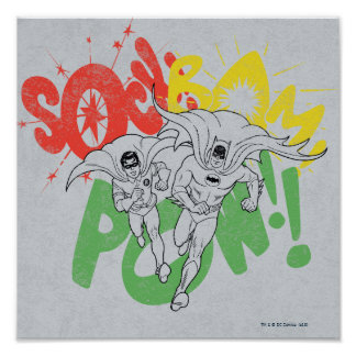 SOCK BAM POW Batman and Robin Poster