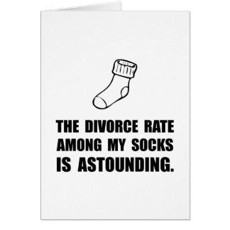 Sock Divorce Card