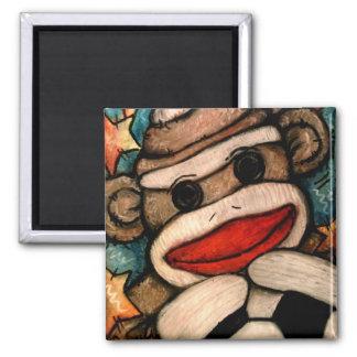 SOCK-er Monkey Magnet