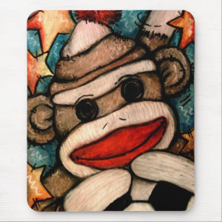 SOCK-er Monkey Mouse Pad