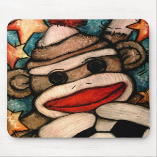 SOCK-er Monkey Mouse Pads