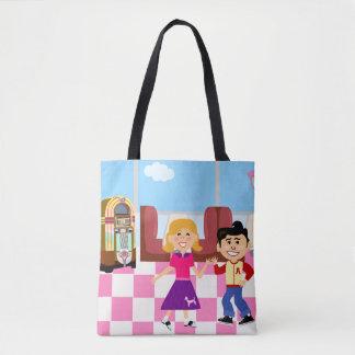 Sock Hop Diner Love Tote Bag
