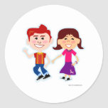 Sock Hop Too Round Stickers