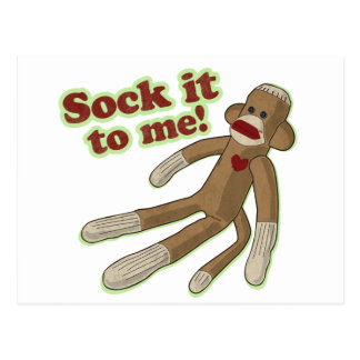 Sock It To Me! Postcard