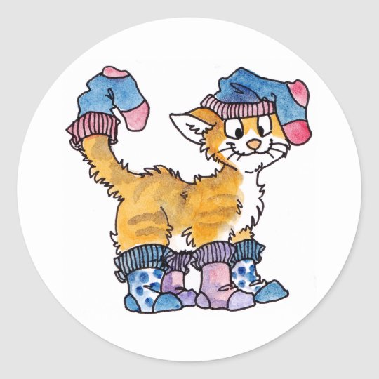 Sock Kitty Stickers