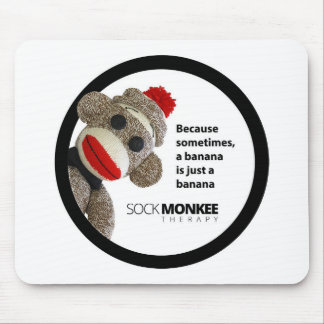 Sock Monkee Therapy Banana Mouse Pad