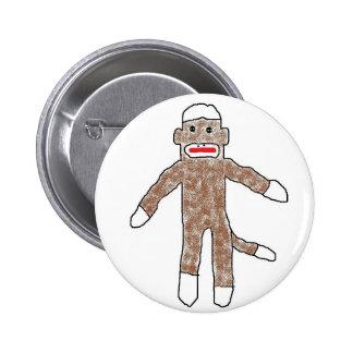 Sock monkey! 2 inch round button