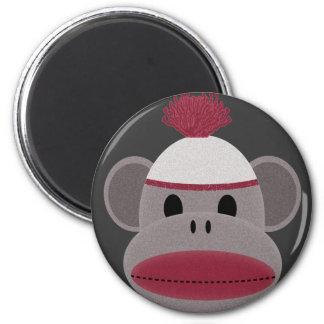 Sock Monkey 2 Inch Round Magnet