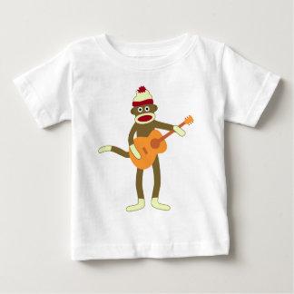 Sock Monkey Acoustic Guitar Baby T-Shirt