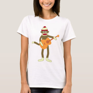 Sock Monkey Acoustic Guitar T-Shirt