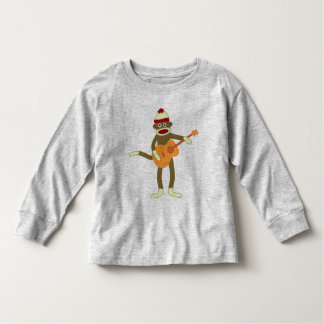 Sock Monkey Acoustic Guitar Toddler T-shirt